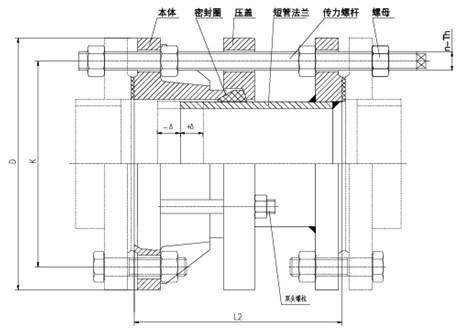 恒昌VSSJAF双法兰传力接头结构示意图