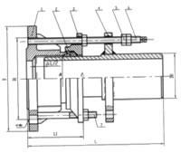 SSJB型压盖式伸缩接头结构示意图: