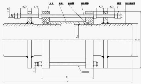 SSJB-3压盖式松套限位伸缩接头结构示意图
