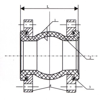 ANSI class150 美标橡胶接头简单示意图