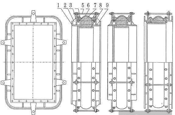 恒昌风道纤维织物补偿器结构图